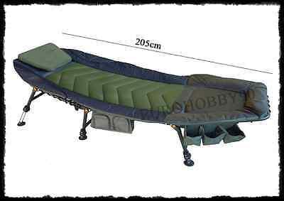 lettino ergonomico con cuscino pesca carpfishing carpa letto pesca