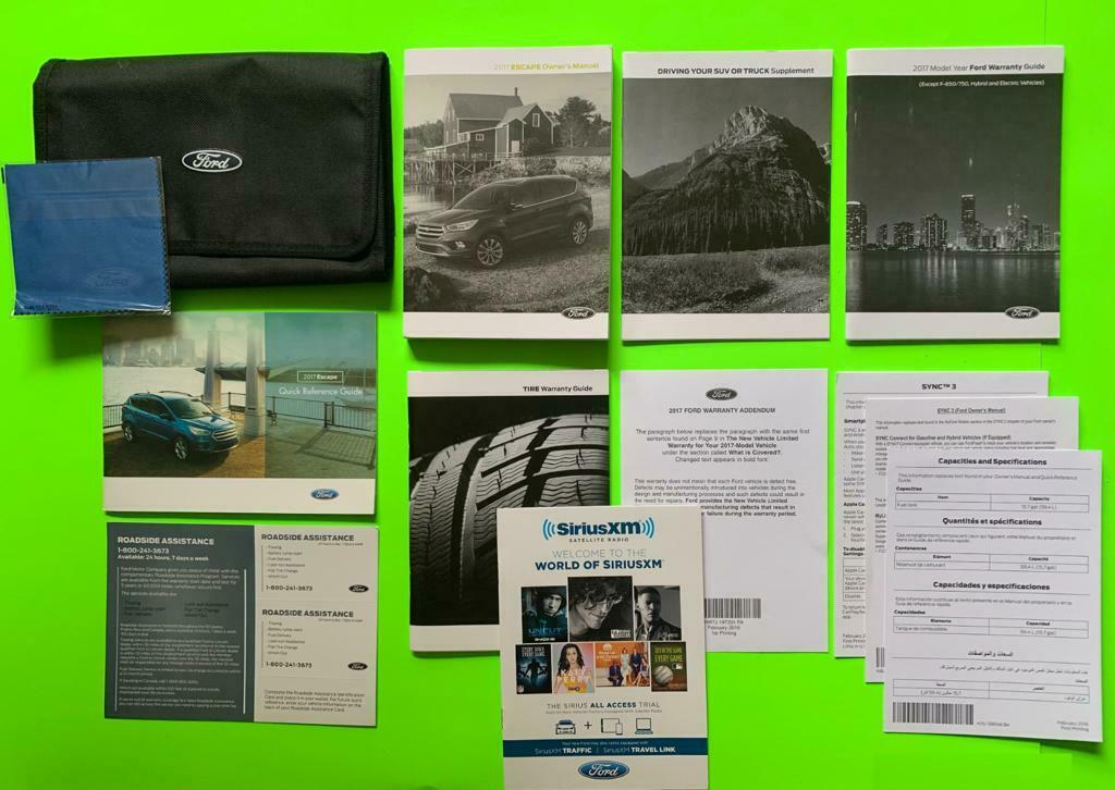 2016 Ford Escape Factory Owners Manual Set W Sync U0026 Case Manual Guide