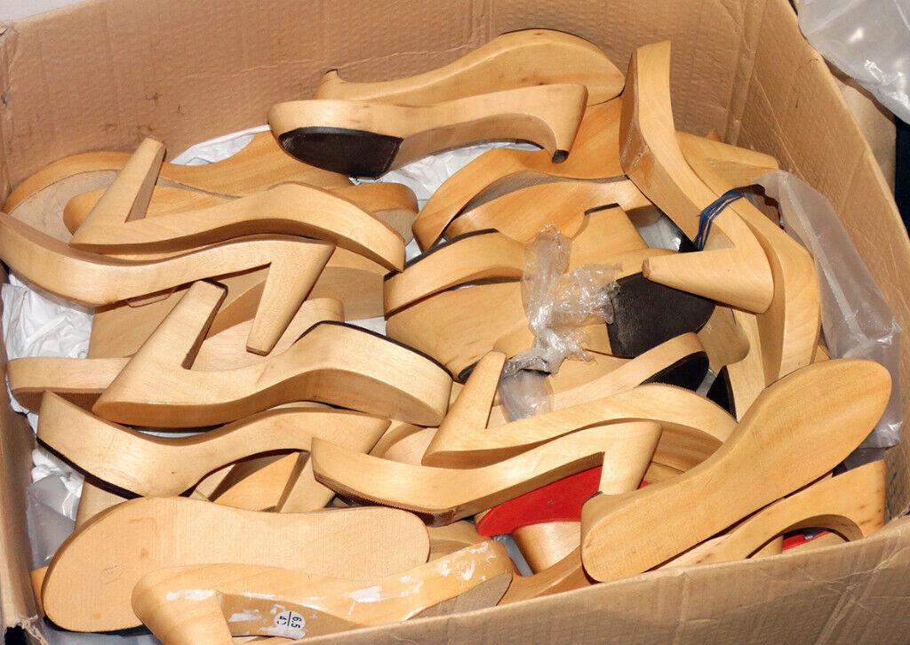 Wholesale wooden heels for shoemaking - wooden soles clogs - shoe lasts    in Birmingham City Centre, West Midlands   Gumtree