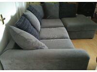 Lovely Grey Corner Sofa Immaculate