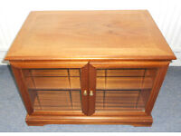 Retro Teak TV Cabinet with Glass Doors
