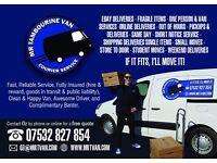 Courier Deliveries Removals Glasgow - Mr Tambourine Van
