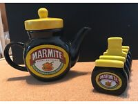 Marmite Tea Pot and Toast Hodler