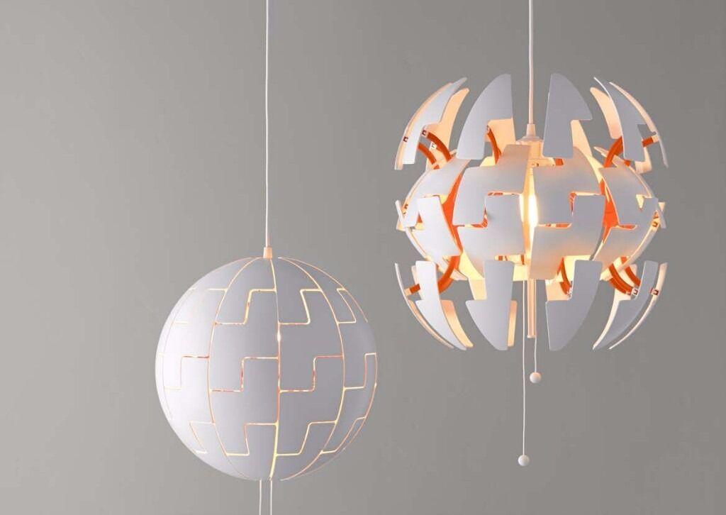 Lovely Stunning Pendant Lamp IKEA PS 2014 White/copper Colour