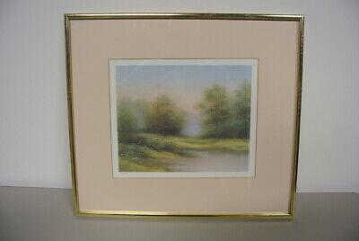 Vintage Arnold Alaniz Signed Framed 17x15 Summer Days Remembered Print # 765/950