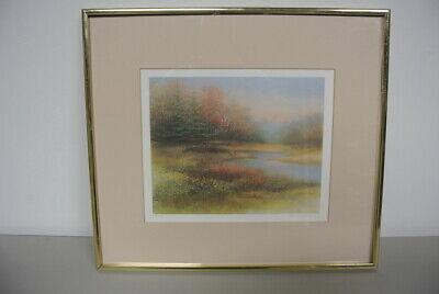 Vintage Arnold Alaniz Signed Framed 17x15 Falls Farewell Print # 808/950
