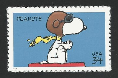 - Snoopy The Red Baron WWI Flying Ace Sopwith Camel Dog On Doghouse Peanuts Stamp!