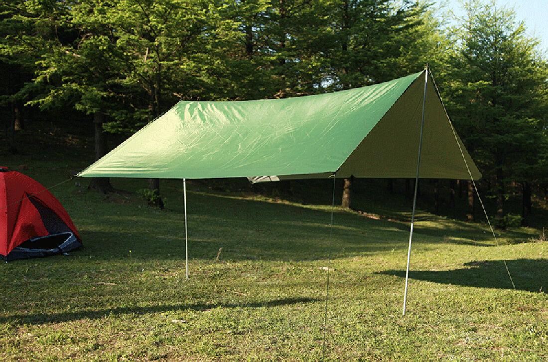 Waterproof Hammock Rain Fly Tent Tarp Shelter Camping Travel Cover Mat 9.8*9.8ft