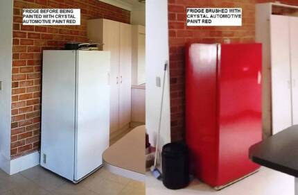 FRIDGE PAINT RED 1 LITRE CAN BE BRUSHED ROLLED OR SPRAYED