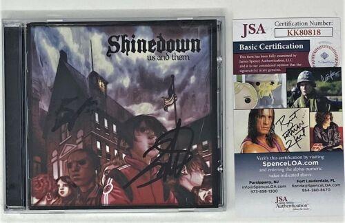 BRENT SMITH ZACH MYERS SIGNED CD SHINEDOWN JSA COA US AND THEM