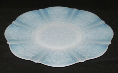 MacBeth Evans Glass Co. AMERICAN SWEETHEART Monax Large Round Chop Plate