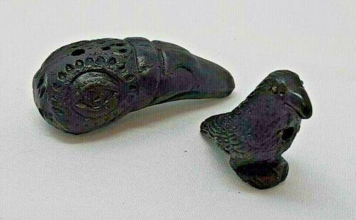 Peruvian Ceramic Bead Black Raven Crow Bird Classic or Tlingit Single or Lot DIY