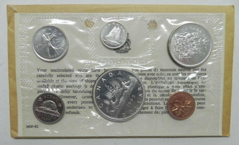 CANADA 1965 5 Piece Proof-Like Mint Set Original RCM Package - Blunt 5
