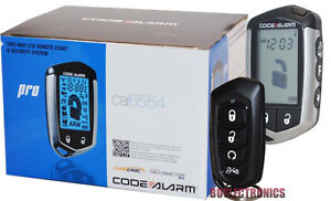 Code-Alarm-CA6554-Car-Remote-Start-Security-System-Keyless-Entry-2-Way-LCD