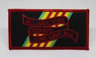 Vietnam All Gave Some / Some Gave All Embroidered Iron On Patch - Biker MC