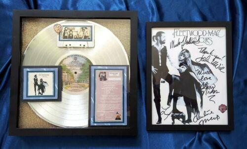 Stevie Nicks & Fleetwood Mac RUMOURS Platinum Award + Photo of Group