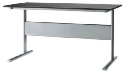 black brown steel leg desk - delivery available