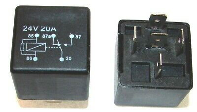 24V// 10-20A// 5-polig// mit Diode - Changeover relay with diode Wechslerrelais