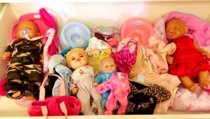 Baby Born Boy and Girl dolls with accessories Kingsley Joondalup Area Preview
