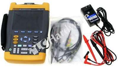 Fluke 196c Digital Color Scopemeter Oscilloscope 100 Mhz 1 Gss With Lead Set