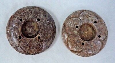 LOT OF 2 Carved Soapstone 2