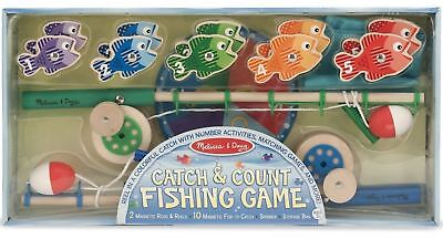Melissa & Doug Catch And Count Fishing Game Learning Wooden Toy/Game Child BNIB