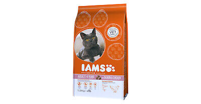 BULK Iams Pro-active Health Adult Chicken 6kg Dry Cat Food Biscuits BBE 05/2019