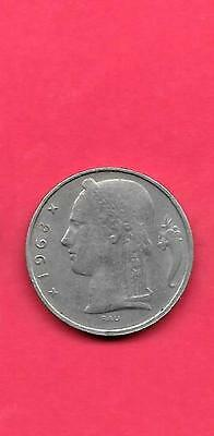 BELGIUM BELGIAN KM134.1 1968 VF-NICE OLD VINTAGE 5 FRANC PRE-EURO COIN