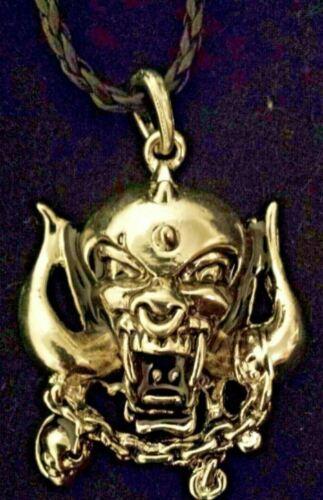Motorhead Skull Pendant WarPig Necklace Metal Lemmy Beast Snaggletooth rarer one