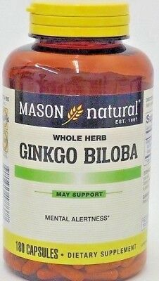 Mason Ginkgo Biloba 4:1 extract (equivalent to 500 mg Ginkgo Leaves) 180 Capsule
