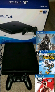 PS4 Slim 1TB with 3 games and box