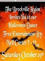 Halloween Dance    7 - 11pm Saturday October 29th