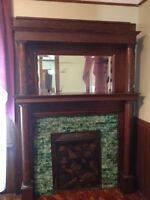 Antique Fireplace Blind