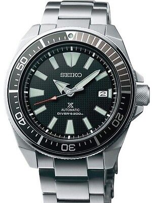 SEIKO SAMURAI PROSPEX AUTOMATIC DIVE WATCH STAINLESS STEEL SRPB51