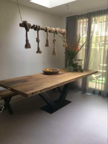 Stoere Tafels Steigerhout Alkmaar.Tafel Eettafel Bartafel Oude Eiken Wagonplanken