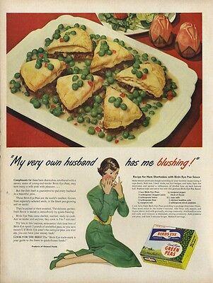 1948 Bird's Eye PRINT AD pea recipe fun food theme Kitchen Nook Vintage Decor