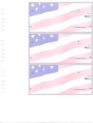 2001 Custom Wallet Checks Laser Inkjet Quickbooks Format 3 Per Page Business
