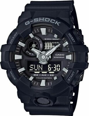Casio GA700-1B G-Shock Men's Analog-Digital Automatic Watch Black Resin