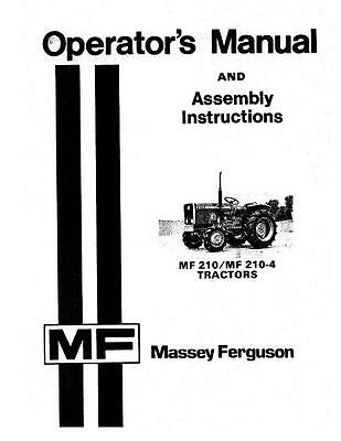 Massey Ferguson Tractors-compact 210 210-4 Operator Manual