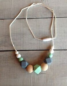 Teething necklaces, rings, bibs, clothes