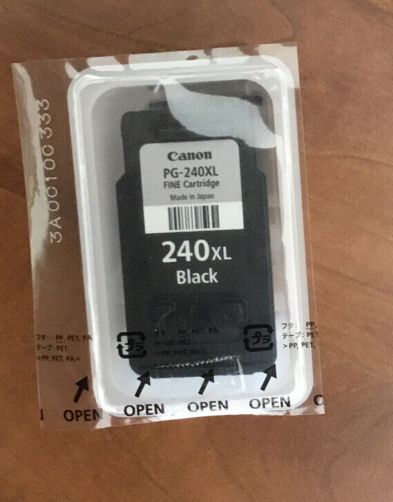 Used Genuine CANON OEM PG-240 XL Black INK Cartridge For REFILL Or Reuse