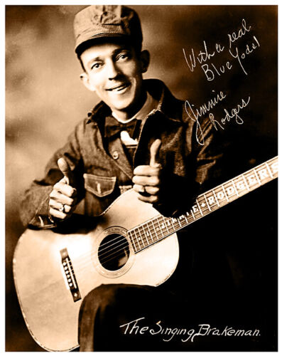 JIMMIE RODGERS 1920s Country Music Legend Photograph Autograph 8x10 RP