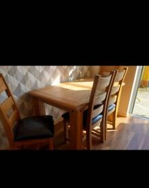 Solid heavy kitchen table and 4 chairs