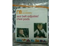 BRAND NEW Mothercare baby seat belt adjuster / chest pads