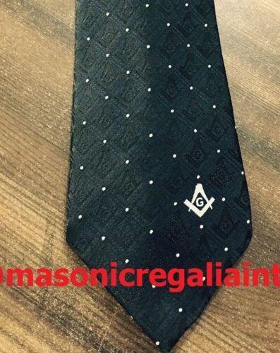 Masonic Square & Compass Ties, Freemason Ties, Master Mason Ties, Black Ties