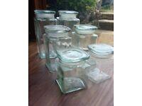 6 Glass Kilner Jars with Lids