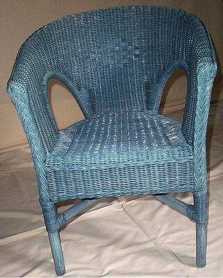 Ratán Silla Nuevo Azul Lavar Sillón Sillas de Mimbre Apilable