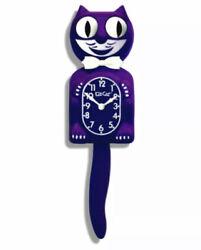 ULTRA VIOLET KIT CAT CLOCK 15.5 Purple  MADE IN USA Kit-Cat Klock