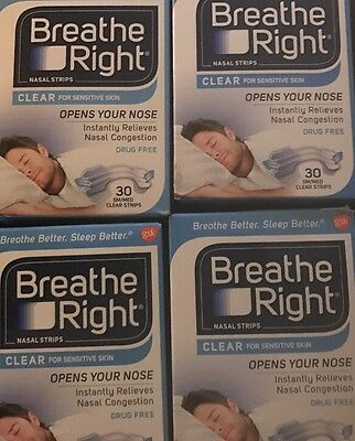 120 Breathe Right Original Clear Nasal Strips Small Med  Free Shipping