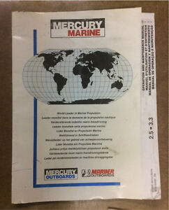 MERCURY OWNERS MANUAL 2.5/3.5
